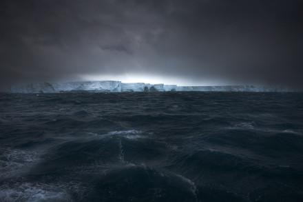 Isberg på Sydatlanten Antarktis