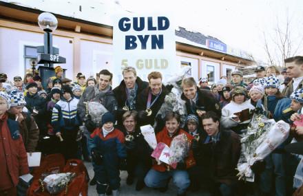 Os guldmedaljörer kommer hem 1994