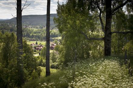Leksands byar, här ser vi Hälla by.