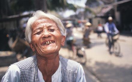 Kvinna Hue Vietnam